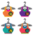 Colorful Sport Bras On Sale vector image
