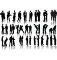 Forty businessmen vector image