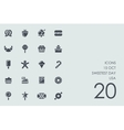 Set of 15 october Sweetest Day USA icons vector image