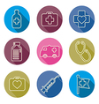 set of medical icons line vector image