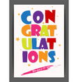 Congratulations with star vector image