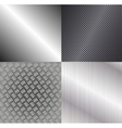 Set of metallic backgrounds vector image vector image