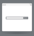 Flat browser window with search bar vector image vector image