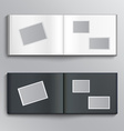 Blank photo album vector image
