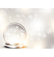 christmas and new year glass ball vector image vector image