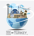 Turkey Landmark Global Travel And Journey vector image