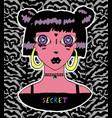 cute vampire girl sticker vector image