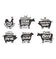 Farm animals icons set Collection of labels with vector image