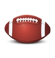 Realistic american football ball vector image