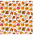 sweet food flat seamless pattern vector image