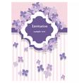 Vintage floral lilac card vector image