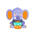 Elephant With Party Attributes Girly Stylized vector image