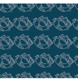 Pattern with stylized birds on green background vector image