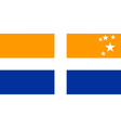 Flag of the Isles of Scilly vector image