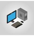 The computer icon PC desktop symbol3D isometric vector image