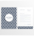 Company letterhead template poster vector image