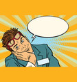 dreaming businessman with glasses vector image