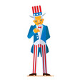 great in flat style of uncle sam vector image