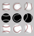 set baseball balls vector image