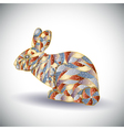 Abstract colorful rabbit vector image vector image