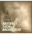 Brown Tech Background vector image vector image