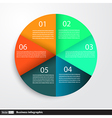 Infographic design with circles for business vector image