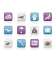 airport and travel icons vector image vector image