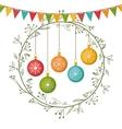 merry christmas wreath decoration vector image