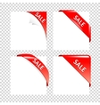 Sale Red Corner collection Business Ribbons on vector image