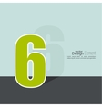 The number 6 vector image