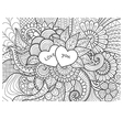 two hearts coloring vector image
