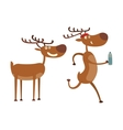 Cartoon deer character vector image