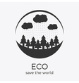 eco style rounded flat logo design vector image vector image