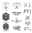 Set of vintage barber shop design elements vector image vector image