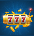 winner gambling background with slot vector image