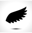 wing icon isolated on white background vector image vector image