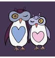 Two cute decorative owls vector image vector image