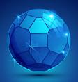 Plastic pixel colorful dimensional sphere sparkle vector image