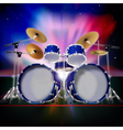 abstract music background with sunrise and drum vector image