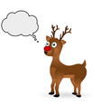 Christmas deer standing on a white background vector image