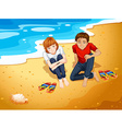 Couple and beach vector image