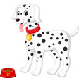 cute dalmation dog vector image