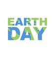 Earth Day emblem Logo for celebration of Earth vector image