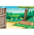 Farm scene vector image