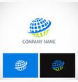 globe sphere planet technology logo vector image