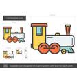 locomotive line icon vector image