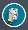 money in hands vector image