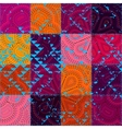 seamless ethnic patchwork pattern vector image