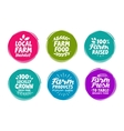 set colorful labels for food nutrition vector image