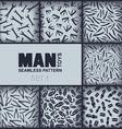 Seven mens seamless pattern vector image